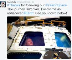 NASA Astronaut Scott Kelly Earth