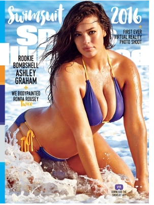 2016 Sports Illustrated Swimsuit cover, hot swimsuit pics Ashley Graham model