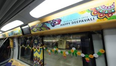 Diwali, train, Singapore, Rangoli, pics, pictures, Hindus, Hinduism, India