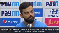 Virat Kohli angrily replies to a reporter