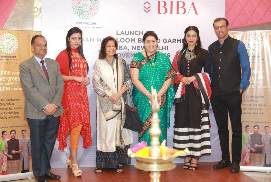 Smriti Zubin Irani, India, BIBA, Handloom, garments, weavers, industry, clothes, India Handloom Garment