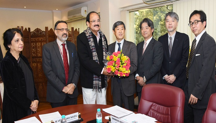 JICA, Japan, India, Varanasi, Japan International Cooperation Agency, Shinichi Kitaoka, Venkaiah Naidu,