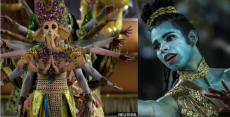 Rio carnival, Lord Ganesha, Brazil, Rajan Zed,Lord Brahma , Lord Indra