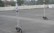 BSF, Inspector Awdhesh Kumar Singh, Head Constable Durvesh Kumar , motorcycle trick riding team, Janbaz ,350CC Royal Enfield Bullet