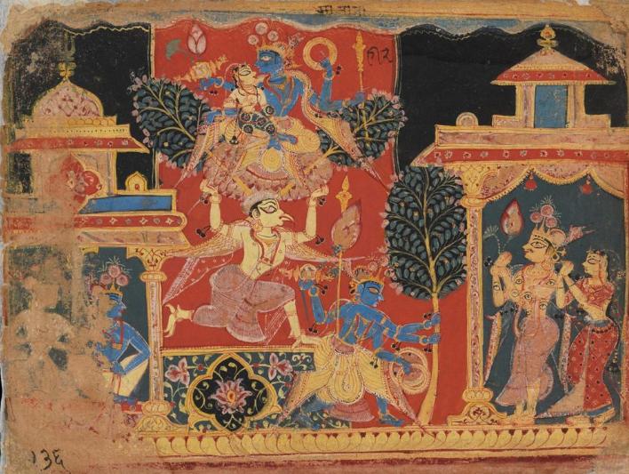 Getty Museum, Hindu Gods, Lord Krishna,Pendant with Narasimha,J. Paul Getty Museum , Los Angeles