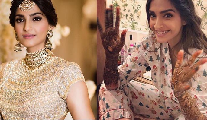 Veere Di Wedding, Anand Ahuja, Sonam Kapoor, Bollywood, style, marriage, mehendi, latest photos