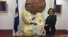 Republic of Marshall Islands, India, RMI, Minister of State , Human Resource Development, Upendra Kushwaha Yoga,Dr. Hilda Heine, John M. Silk