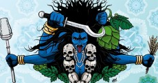 Hindus, Valdivia , Chile, Cerveza Bundor craft brewery,Kali IPA beer, Hindu goddess Kali, Hinduism
