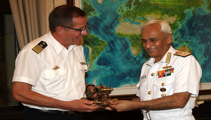 Andreas Krause, Vice Admiral, India, Germany, Admiral Sunil Lanba,