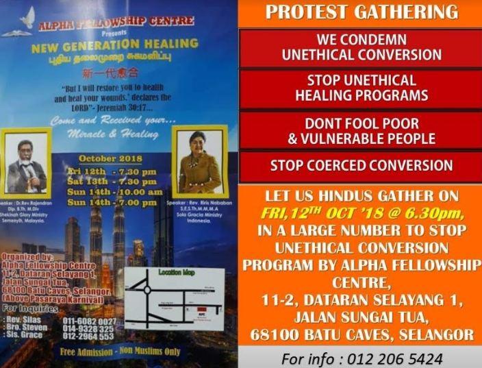 Hindu, conversion, Malaysia, Alpha Fellowship Centre, Non-Muslims, Hinduism, Batu Caves