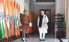 Prime Minister, Bhutan, Lotay Tshering, Narendra Modi, India, RuPay cards,National Payments Corporation India ,NPCI, Mangdecchu , South Asian Satellite, weather information, tele-medicine , ISRO, disaster relief