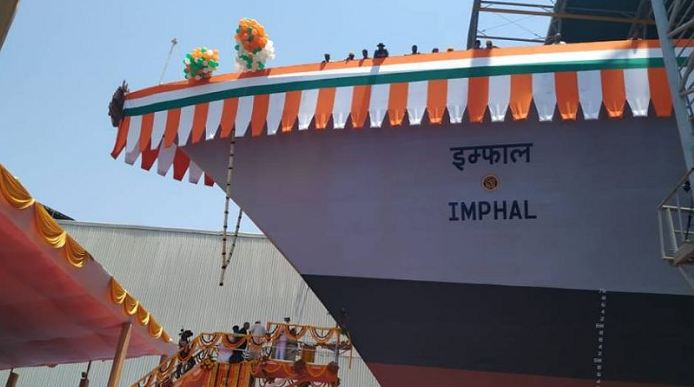 Admiral Sunil Lanba, Indian Navy, Project 15B, Guided Missile Destroyer, Imphal, defence capability,Navy Wives Welfare Association, Atharva Veda